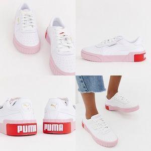 Puma // ASOS Cali White & Pink Trainers • Sneakers